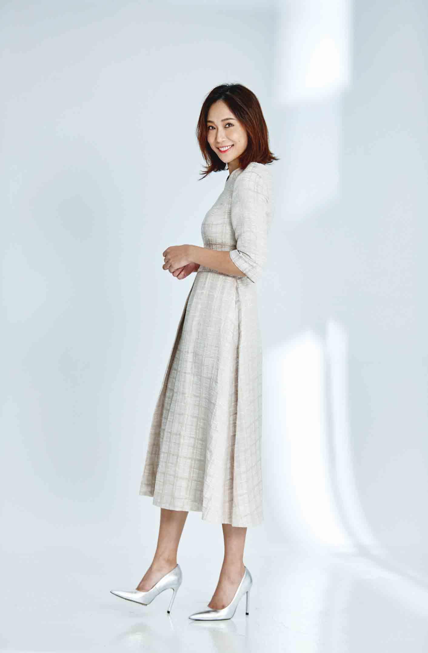 Cendrillon Round-neck 3/4 Length Sleeve Dress – Golden