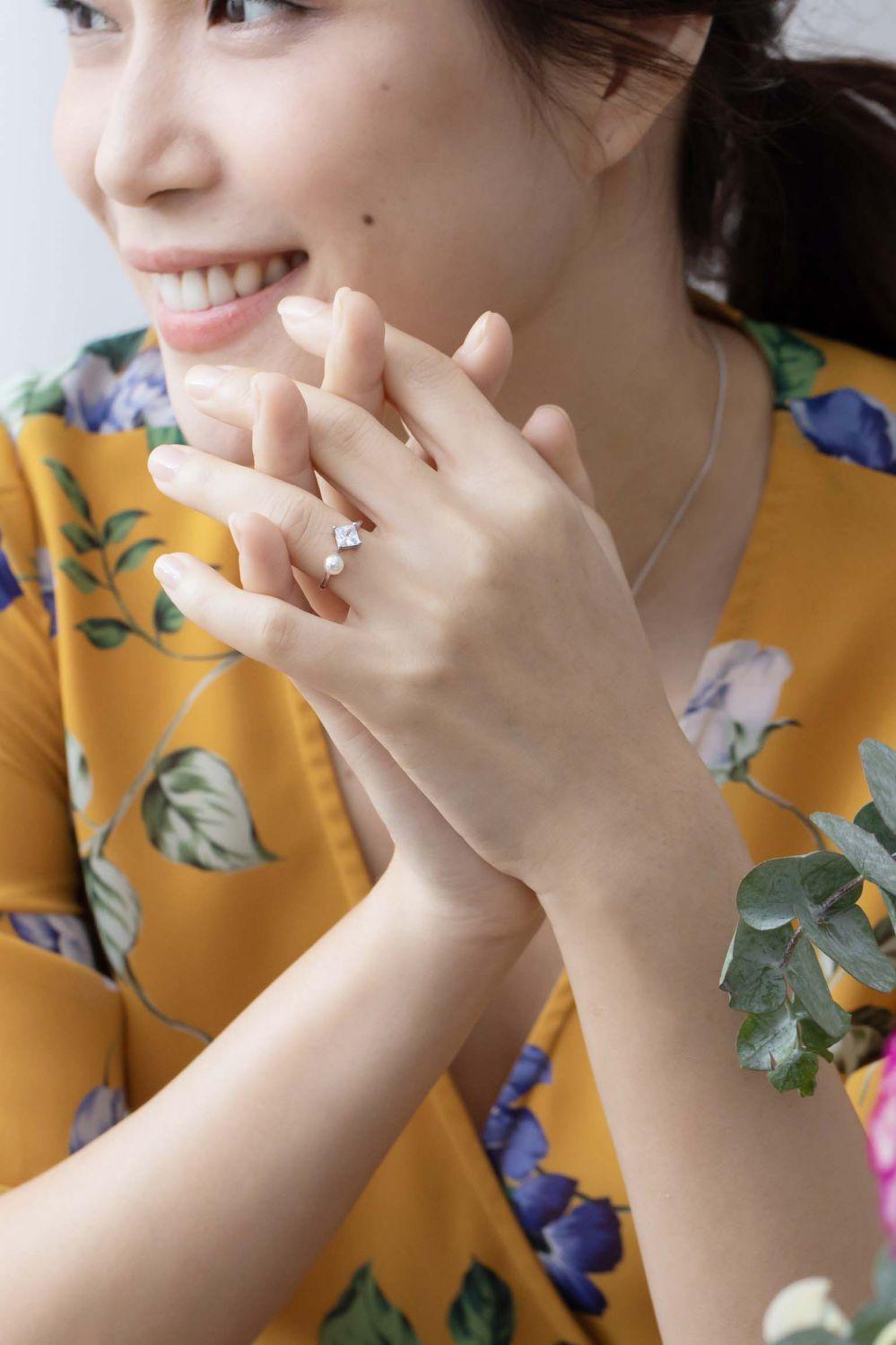 Miranda米蘭印象珍珠純銀戒指